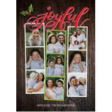 Christmas Photo Cards 5x7 Cards, Premium Cardstock 120lb with Rounded Corners, Card & Stationery -Christmas Joyful Snapshots by Tumbalina