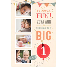 Baby + Kids 12x18 Peel, Stick & Reuse, Home Decor -So Much Fun Turning One