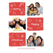 Christmas Photo Cards 5x7 Cards, Premium Cardstock 120lb with Rounded Corners, Card & Stationery -Tis The Season