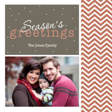 Christmas Photo Cards 5x5 Flat Card Set, 85lb, Card & Stationery -Season's Greetings Chevron