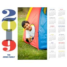 Calendar 11x14 Peel, Stick & Reuse, Home Decor -Bold New Year