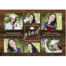 2019 Graduation Announcements 5x7 Cards, Premium Cardstock 120lb with Rounded Corners, Card & Stationery -Grad Cap 2019 by Tumbalina