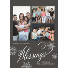 Christmas Photo Cards 5x7 Cards, Premium Cardstock 120lb with Scalloped Corners, Card & Stationery -Blessed Snowfall