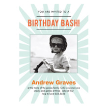 Birthday Party Invites 5x7 Cards, Premium Cardstock 120lb with Scalloped Corners, Card & Stationery -Starburst Bday Bash