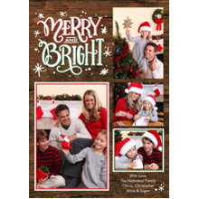 Christmas Photo Cards 5x7 Cards, Premium Cardstock 120lb with Rounded Corners, Card & Stationery -Christmas Merry & Bright Memories by Tumbalina
