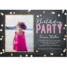 Birthday Party Invites 5x7 Cards, Premium Cardstock 120lb, Card & Stationery -Birthday Party Confetti