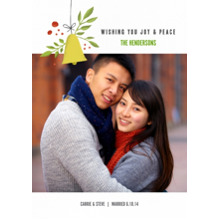 Christmas Photo Cards 5x7 Cards, Premium Cardstock 120lb with Elegant Corners, Card & Stationery -Wishing Joy and Peace
