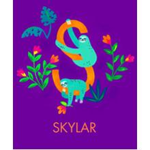 Non Photo Sherpa Blanket, Gift -Animal Monogram S