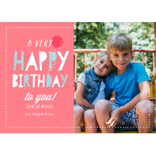 Birthday Greeting Cards 5x7 Folded Cards, Premium Cardstock 120lb, Card & Stationery -Birthday Balloon