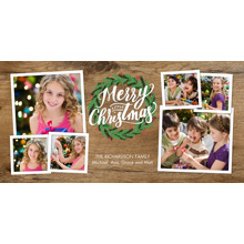 Christmas Photo Cards 4x8 Flat Card Set, 85lb, Card & Stationery -Christmas Wreath