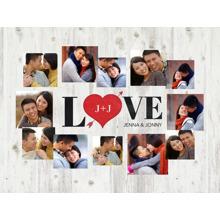 Love Plush Fleece Blanket, 60x80, Gift -Together Heart