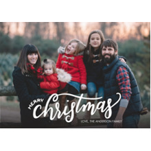 Christmas Photo Cards 5x7 Cards, Premium Cardstock 120lb with Elegant Corners, Card & Stationery -Christmas Modern Script