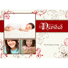 Christmas Photo Cards 5x7 Cards, Premium Cardstock 120lb with Rounded Corners, Card & Stationery -Feliz Navidad