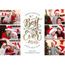 Christmas Photo Cards 5x7 Cards, Premium Cardstock 120lb with Elegant Corners, Card & Stationery -2018 Best Year Ever by Tumbalina