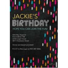 Birthday Party Invites 5x7 Cards, Premium Cardstock 120lb with Rounded Corners, Card & Stationery -Bright Chalk