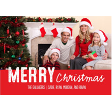 Christmas Photo Cards 5x7 Cards, Premium Cardstock 120lb with Rounded Corners, Card & Stationery -Sponge Print Merry