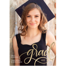 2019 Graduation Announcements 5x7 Cards, Premium Cardstock 120lb with Scalloped Corners, Card & Stationery -2019 Grad Shining by Tumbalina