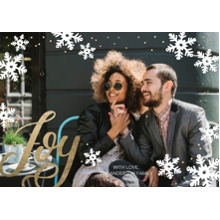 Christmas Photo Cards 5x7 Cards, Premium Cardstock 120lb with Elegant Corners, Card & Stationery -Christmas Joy Snowflakes