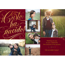 Christmas Photo Cards 5x7 Cards, Premium Cardstock 120lb with Elegant Corners, Card & Stationery -Cristo ha Nacido Collage
