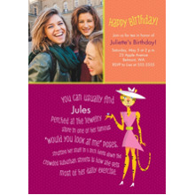 Birthday Party Invites 5x7 Cards, Premium Cardstock 120lb, Card & Stationery -Animal Personality Birthday Leopard