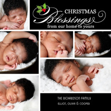 Christmas Photo Cards 5x5 Flat Card Set, 85lb, Card & Stationery -Christmas Blessings Collage