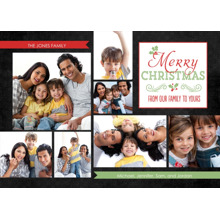 Christmas Photo Cards 5x7 Cards, Premium Cardstock 120lb with Rounded Corners, Card & Stationery -From Our Family to Yours