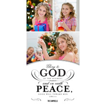 Christmas Photo Cards 4x8 Flat Card Set, 85lb, Card & Stationery -Glory to God