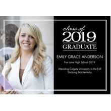 2019 Graduation Announcements 5x7 Cards, Premium Cardstock 120lb with Rounded Corners, Card & Stationery -2019 Graduation Stack by Tumbalina