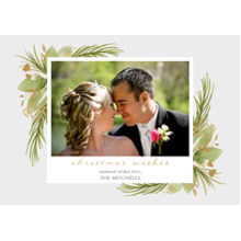Christmas Photo Cards 5x7 Cards, Premium Cardstock 120lb with Elegant Corners, Card & Stationery -Christmas In Bloom by Foto Crush
