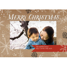 Christmas Photo Cards 5x7 Cards, Premium Cardstock 120lb with Rounded Corners, Card & Stationery -Rustic Craft Christmas