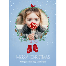 Christmas Photo Cards 5x7 Cards, Premium Cardstock 120lb with Rounded Corners, Card & Stationery -Merry Mittens