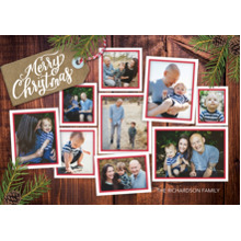 Christmas Photo Cards 5x7 Cards, Premium Cardstock 120lb with Scalloped Corners, Card & Stationery -Christmas Memories