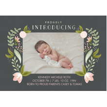 Baby Announcements 5x7 Cards, Standard Cardstock 85lb, Card & Stationery -Newborn Peonies