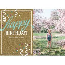 Birthday Greeting Cards 5x7 Folded Cards, Standard Cardstock 85lb, Card & Stationery -Happy Birthday Glitter