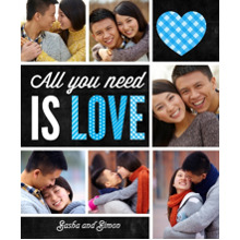 Love Sherpa Blanket, Gift -All You Need is Love
