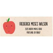 Baby Address Labels, Card & Stationery -Apple A Day