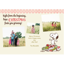 Christmas Photo Cards 5x7 Cards, Premium Cardstock 120lb with Rounded Corners, Card & Stationery -Snoopy Right From the Beginning