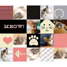 Pets Plush Fleece Photo Blanket, 50x60, Gift -Cat Collage