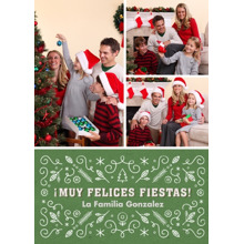 Christmas Photo Cards 5x7 Cards, Premium Cardstock 120lb with Elegant Corners, Card & Stationery -Muy Felices Fiestas