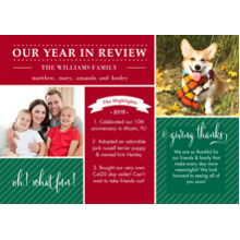 Christmas Photo Cards 5x7 Cards, Premium Cardstock 120lb with Elegant Corners, Card & Stationery -Family Year In Review by Gartner