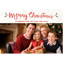 Christmas Photo Cards 5x7 Cards, Premium Cardstock 120lb with Elegant Corners, Card & Stationery -Wintery Wood Christmas