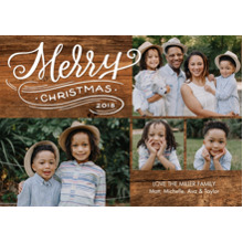 Christmas Photo Cards 5x7 Cards, Premium Cardstock 120lb with Rounded Corners, Card & Stationery -Christmas 2018 Swirl by Tumbalina