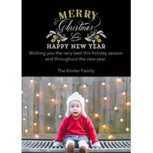 Christmas Photo Cards 5x7 Cards, Premium Cardstock 120lb with Elegant Corners, Card & Stationery -Elegant Holiday