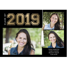 2019 Graduation Announcements 5x7 Cards, Premium Cardstock 120lb with Rounded Corners, Card & Stationery -2019 Grad Collegiate by Tumbalina
