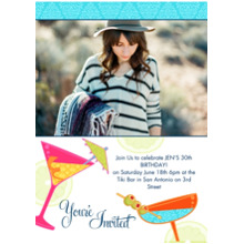 Birthday Party Invites 5x7 Cards, Premium Cardstock 120lb, Card & Stationery -You're Invited