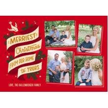 Christmas Photo Cards 5x7 Cards, Premium Cardstock 120lb with Elegant Corners, Card & Stationery -Merriest Christmas Banner Collage by Hallmark