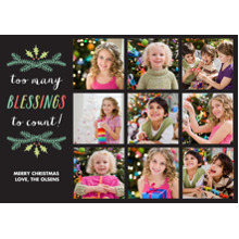 Christmas Photo Cards 5x7 Cards, Premium Cardstock 120lb with Elegant Corners, Card & Stationery -Red Berry Wreath