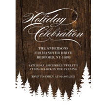 Christmas Party Invitations Flat Glossy Photo Paper Cards with Envelopes, 5x7, Card & Stationery -Holiday Invite Celebration
