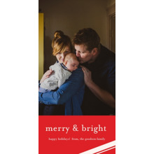 Christmas Photo Cards 4x8 Flat Card Set, 85lb, Card & Stationery -Merry & Bright Holiday