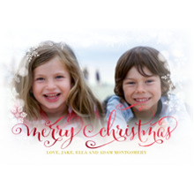 Christmas Photo Cards 5x7 Cards, Premium Cardstock 120lb with Rounded Corners, Card & Stationery -Falling Snowflakes